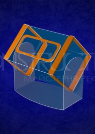 Пластиковий лототрон настільний розміром 300x200x200 мм на 12 літер