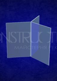 Потрійне меню з прозорого акрилу під формат А5 210х150мм
