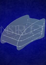 Настільна пластикова підставка під поліграфію на 3 позиції формату А4