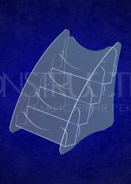 Настільна підставка з прозорого оргскла під поліграфію на 4 позиції формату А5