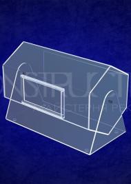 Лототрон з прозорого акрилу настільний розміром 400x250x250 мм на 25 літер