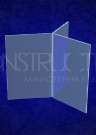 Потрійне меню з прозорого пластику під формат А4 297х210мм